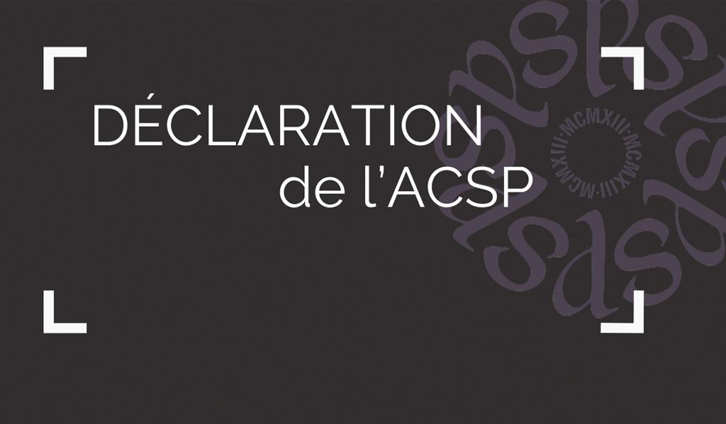 Déclaration de l'ACSP au sujet de l'Université Laurentienne