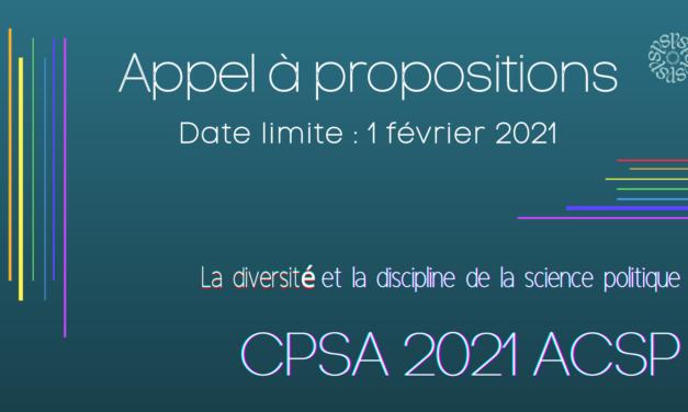 2021 Appel à propositions