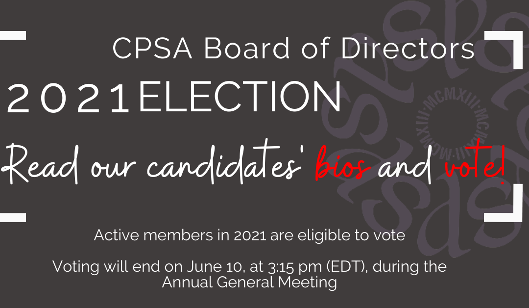 2021 Election – CPSA Board of Directions