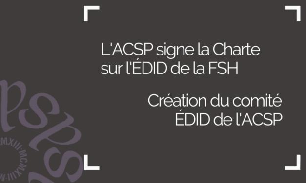Charte ÉDID FSH – Comité EDID ACSP