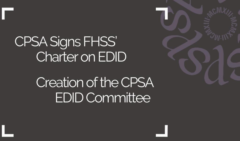 FHSS' Charter EDID  – CPSA EDID Committee